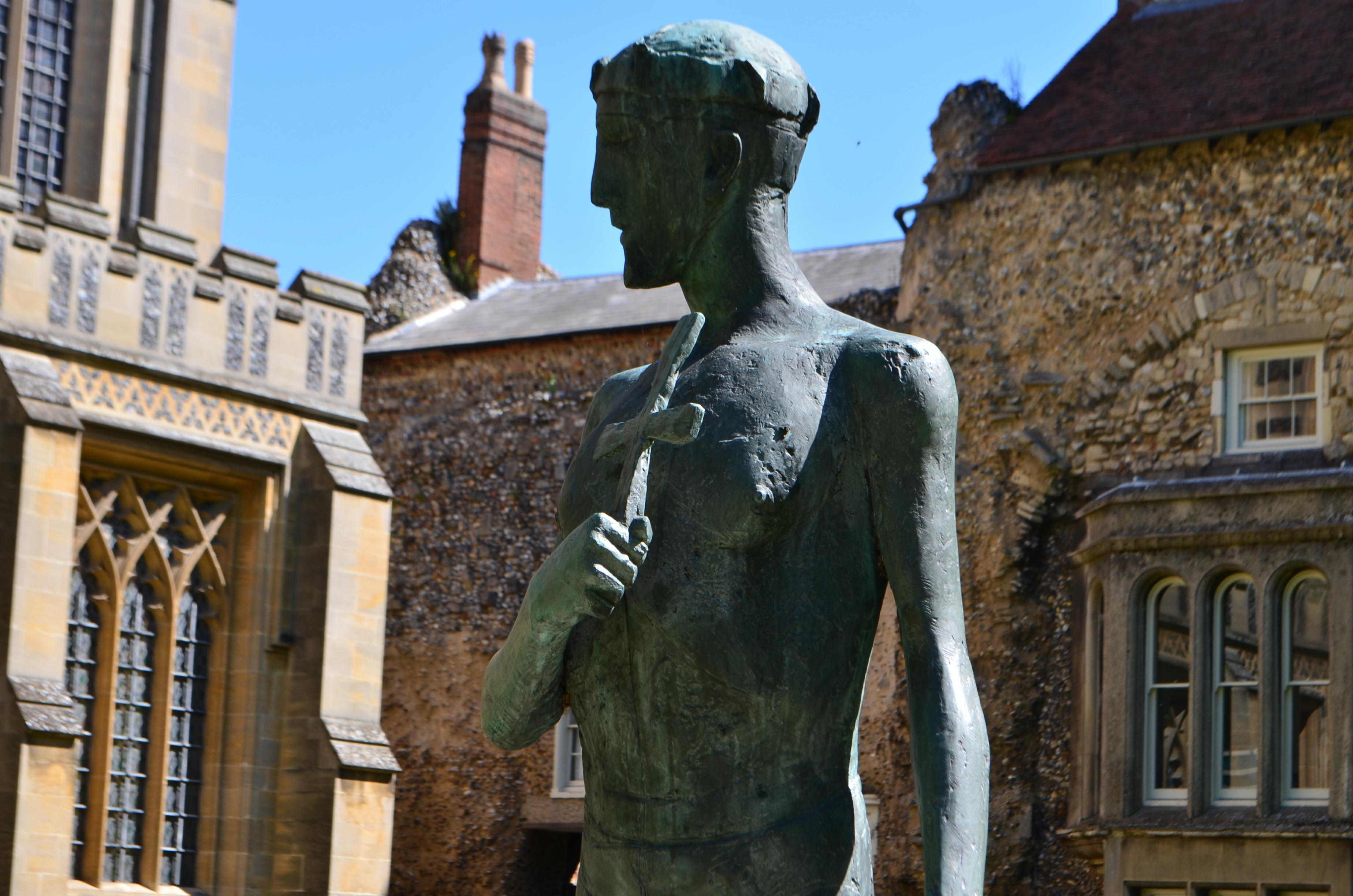 Dame Elizabeth Frink's sculpture of St Edmund