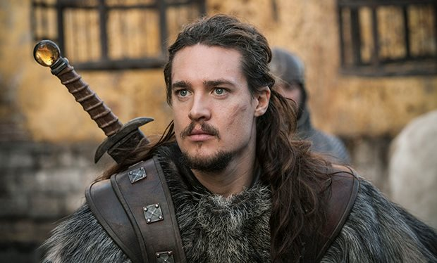ALexander Dreymon playing Uhtred from Bernard Cornwell's The Last Kingdom