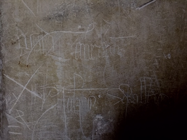 John Lydgate's signature, St Mary's church Lidgate